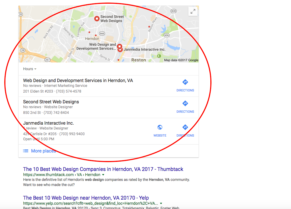 Local SEO takes up a huge part of the SERPs