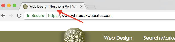 Page Title on a Chrome Browser