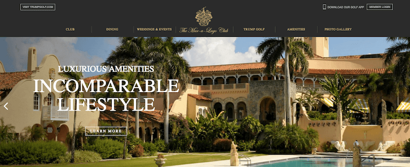Website Audit for Trump's Mar-a-Lago Club