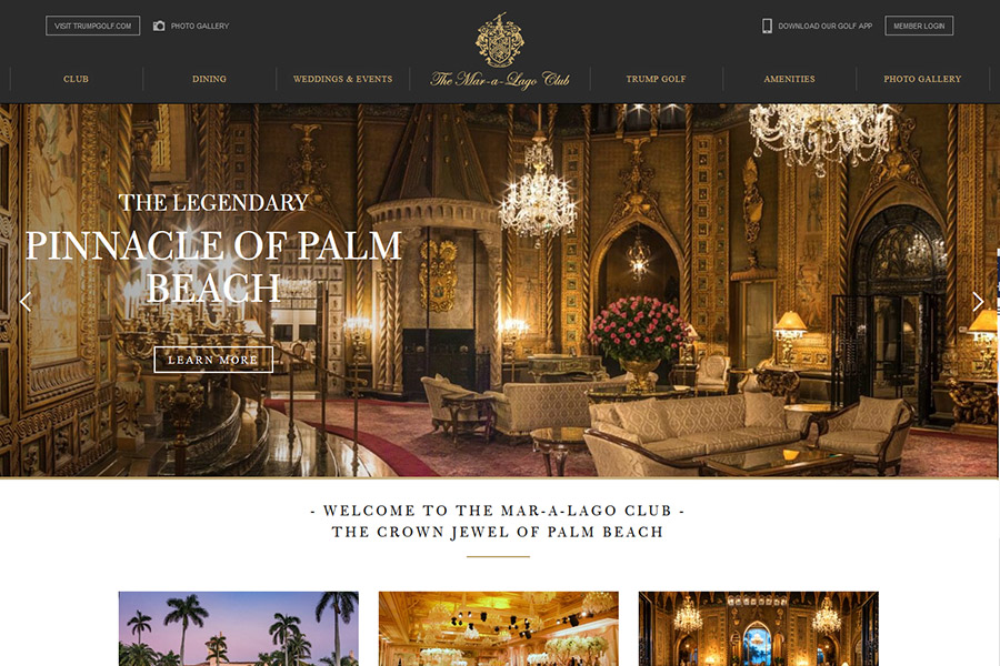 Website Audit for Trump's Mar-a-Lago Club