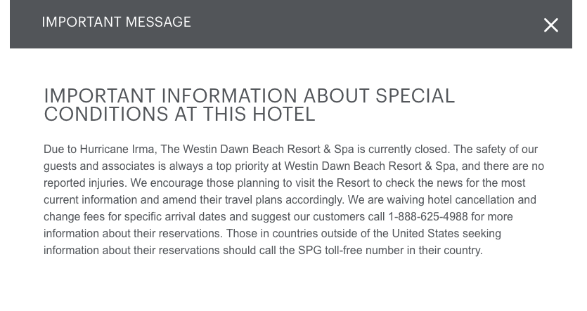 Sample of Website Notice