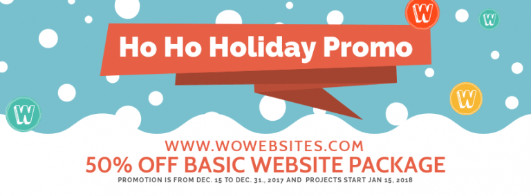 50% Off Basic Websites 2017 Holiday Promo for New Clients